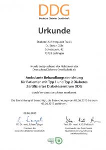 DDG_Praxis_Gölz_Urkunde_Diabeteszetrum
